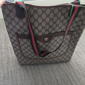 EUC vintage Gucci shopper tote